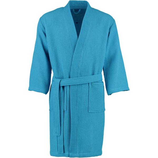 Vossen Bademantel Pique Rom - Farbe: 557 - turquoise (141340) XL
