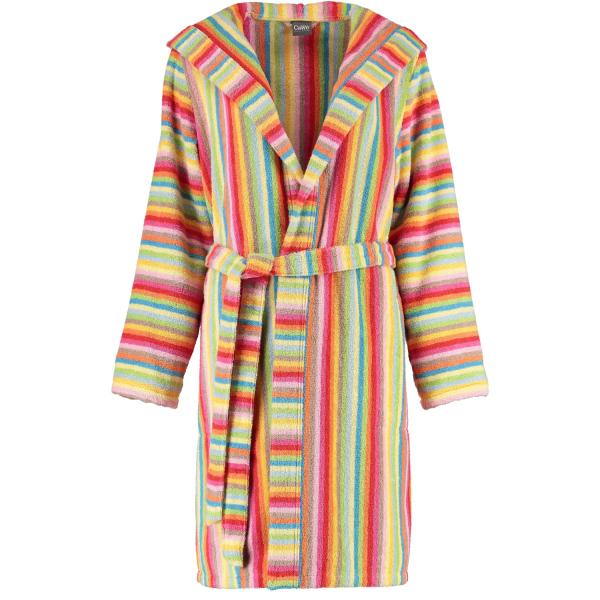 Cawö - Damen Bademantel Life Style - Kurzmantel mit Kapuze 7082 - Farbe: multicolor - 25