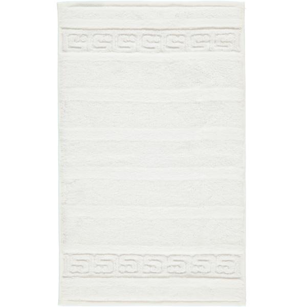 Cawö - Noblesse Uni 1001 - Farbe: 600 - weiß Gästetuch 30x50 cm