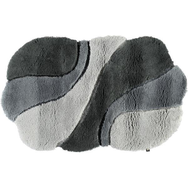 Rhomtuft - Badteppich Ambiente - Farbe: perlgrau/blei/zink - 1308