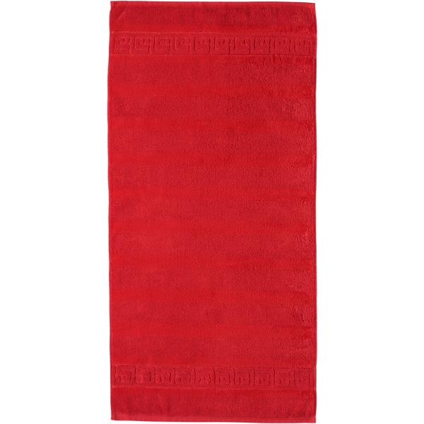 Cawö - Noblesse Uni 1001 - Farbe: 203 - rot Handtuch 60x110 cm