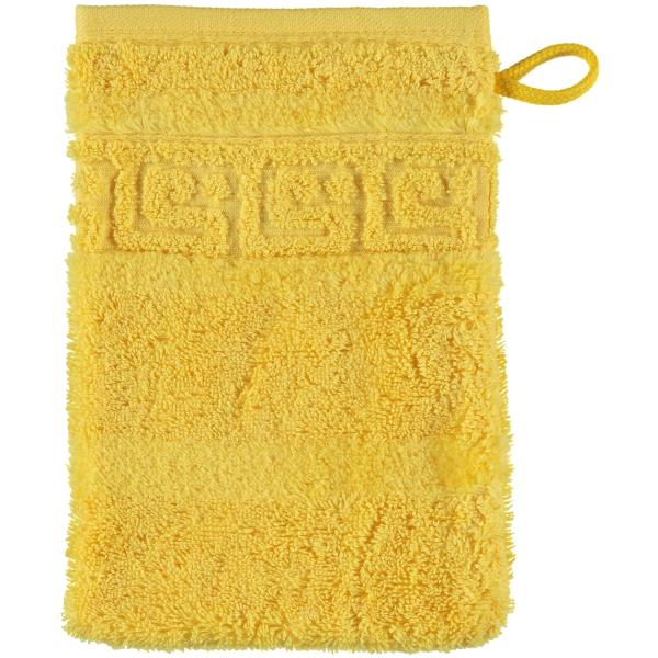 Cawö - Noblesse Uni 1001 - Farbe: 521 - gelb Waschhandschuh 16x22 cm