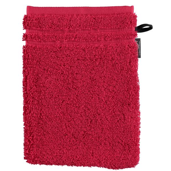 Vossen Vienna Style Supersoft - Farbe: rubin - 390 Waschhandschuh 16x22 cm