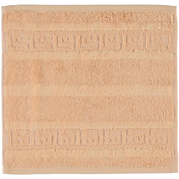 Cawö - Noblesse Uni 1001 - Farbe: 368 - lachs Seiflappen 30x30 cm