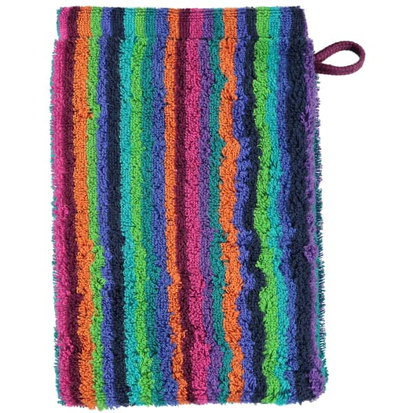 Cawö - Life Style Streifen 7048 - Farbe: 84 - multicolor Waschhandschuh 16x22 cm