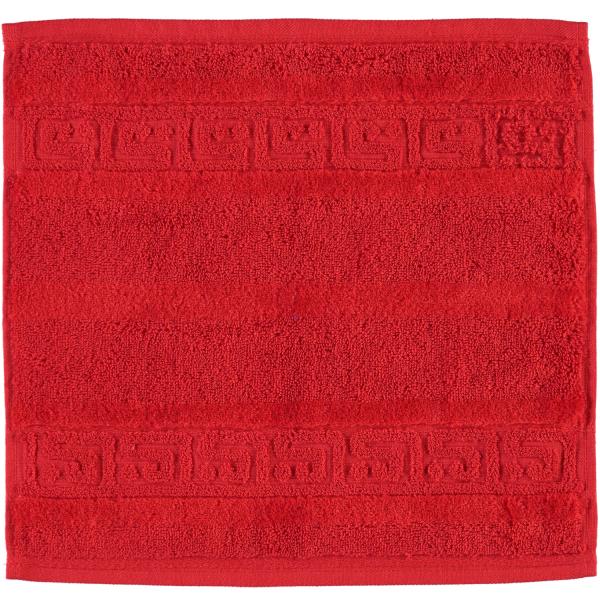 Cawö - Noblesse Uni 1001 - Farbe: 203 - rot Seiflappen 30x30 cm