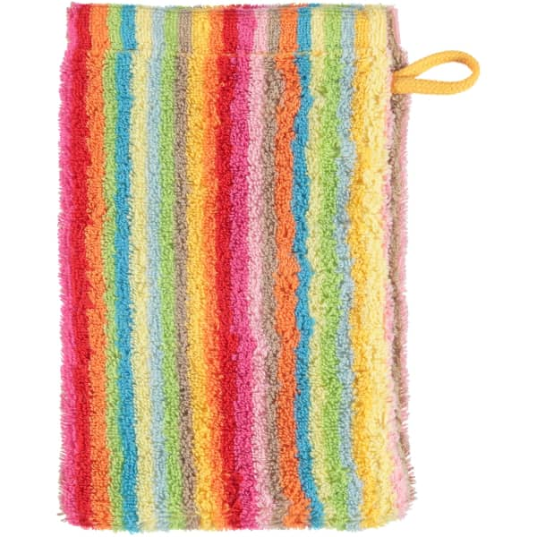 Cawö - Life Style Streifen 7008 - Farbe: 25 - multicolor Waschhandschuh 16x22 cm