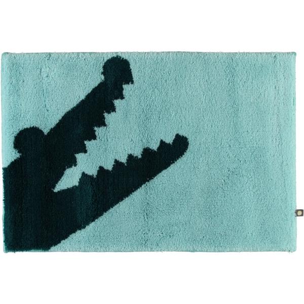 Rhomtuft - Badteppich Croc - Farbe: mint/pazifik - 1210 70x130 cm