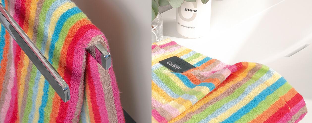 Cawö - Life Style Streifen 7008 - Farbe: 25 - multicolor Seiflappen 30x30 cm Detailbild 3