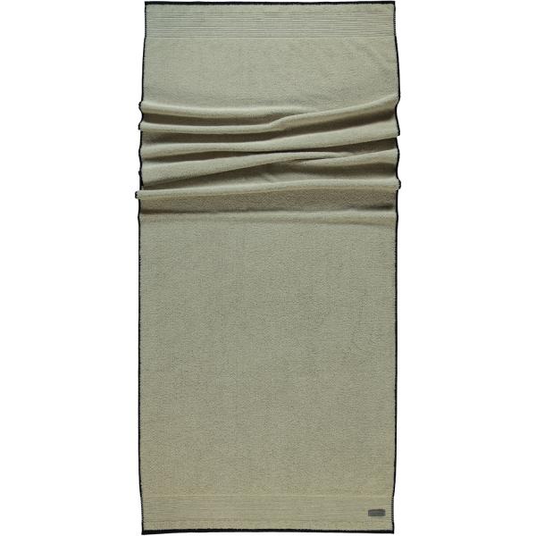 Möve - Eden - Melange mit Biesenbordüre - Farbe: natur - 081 (1-0151/8944) Saunatuch 80x200 cm
