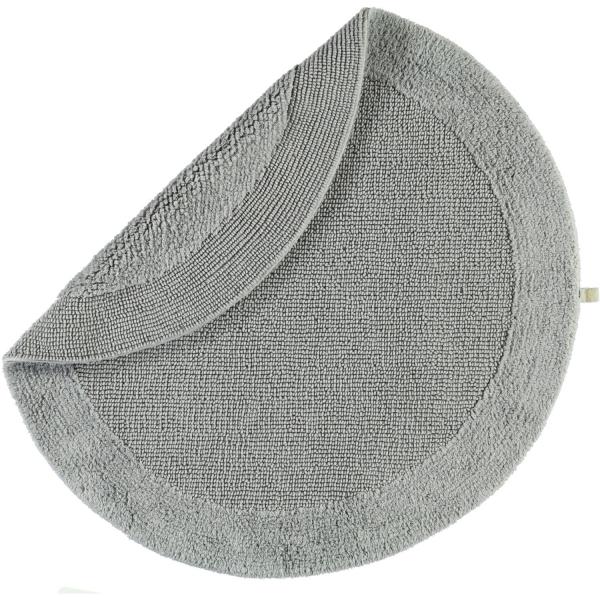 Rhomtuft - Badteppiche Exquisit - Farbe: kiesel - 85 80 cm rund