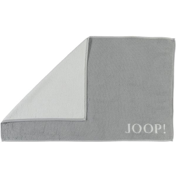 JOOP! Classic - Doubleface Badematte 1600 - 50x80 cm - Farbe: Silber/Weiß - 76