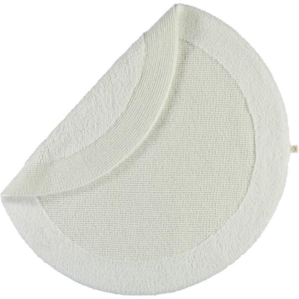 Rhomtuft - Badteppiche Exquisit - Farbe: weiss - 01 80 cm rund