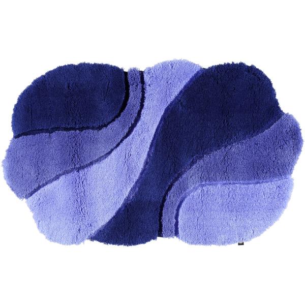 Rhomtuft - Badteppich Ambiente - Farbe: polarblau/ultramarin/royal - 1310 70x130 cm