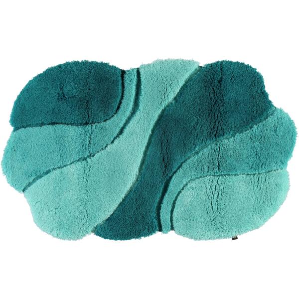 Rhomtuft - Badteppich Ambiente - Farbe: calypso/malachit/eukalyptus - 1307 65x110 cm
