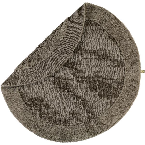 Rhomtuft - Badteppiche Exquisit - Farbe: taupe - 58 80 cm rund