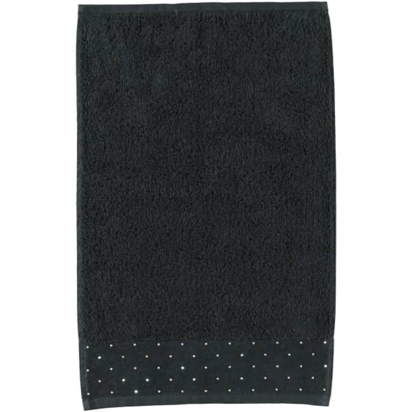 Möve - Swarovski Kristalle Allover - Farbe: black - 199 (0-5793/8688) Gästetuch 30x50 cm