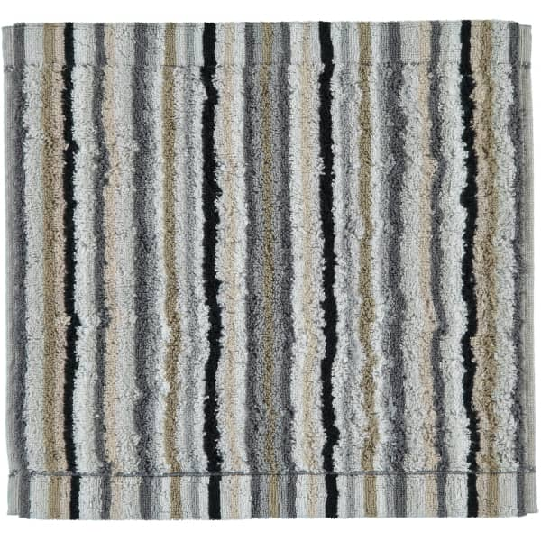 Cawö - Life Style Streifen 7048 - Farbe: 37 - kiesel Seiflappen 30x30 cm