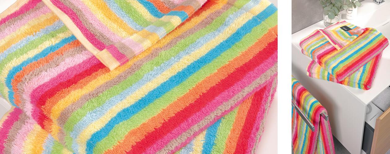 Cawö - Life Style Streifen 7008 - Farbe: 25 - multicolor Duschtuch 70x140 cm Detailbild 1