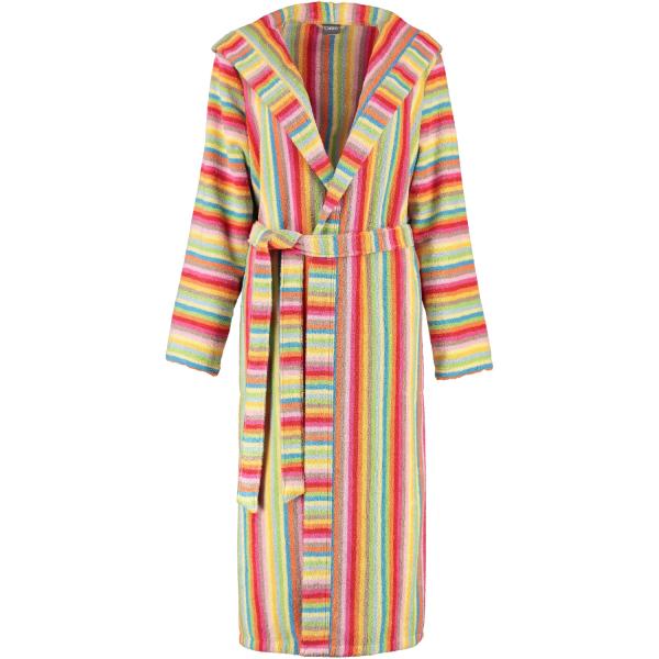 Cawö - Damen Bademantel Life Style - Kapuze 7081 - Farbe: multicolor - 25 M