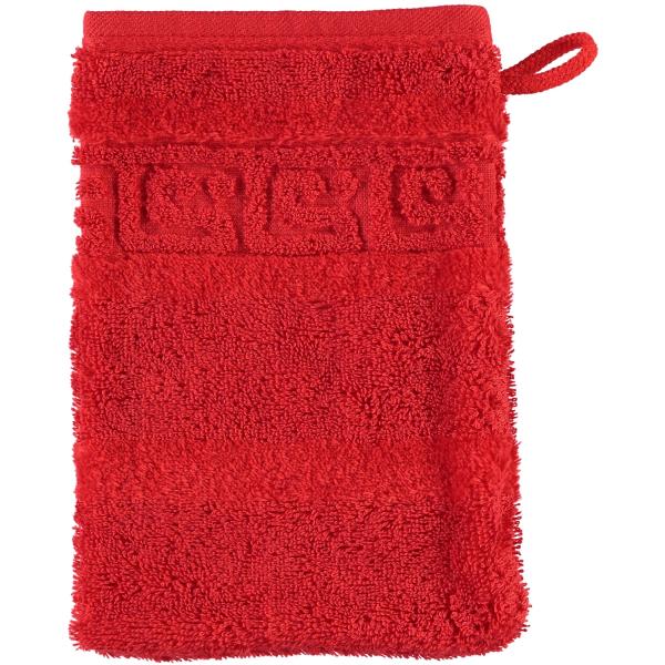 Cawö - Noblesse Uni 1001 - Farbe: 203 - rot Waschhandschuh 16x22 cm