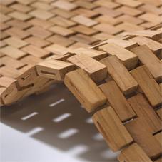 Rhomtuft Holz Badematte