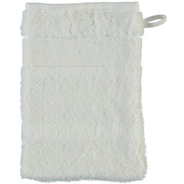 Cawö - Noblesse2 1002 - Farbe: 600 - weiß Waschhandschuh 16x22 cm