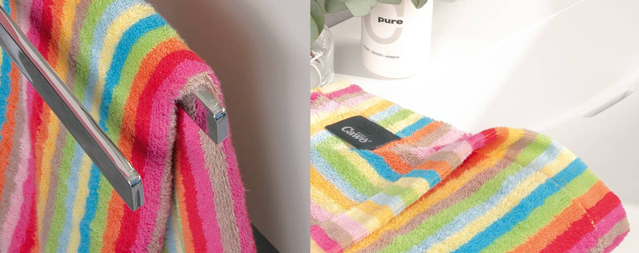 Cawö - Life Style Streifen 7008 - Farbe: 25 - multicolor Duschtuch 70x140 cm Detailbild 3